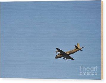 Us Navy Military Airplane Wood Print by Sami Sarkis