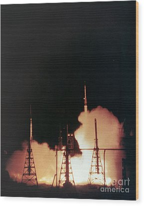 Us Navy Rockets 1958 Wood Print by Granger