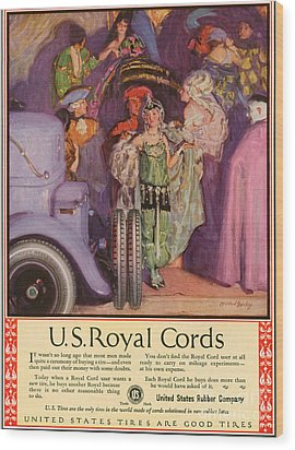 Us Royal Cords 1924 1920s Usa Cc Cars Wood Print by The Advertising Archives