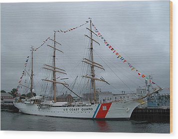 Usa Coast Guard Wood Print