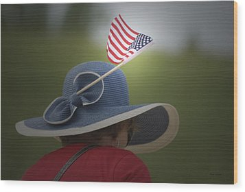 Usa Flags 04 Wood Print by Thomas Woolworth