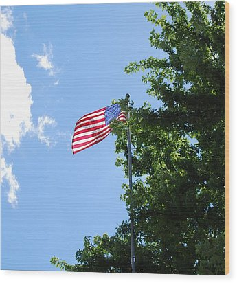 Wood Print featuring the photograph USA by Ramona Whiteaker