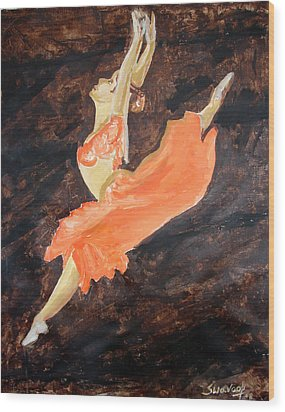U.s.ballet Dance Wood Print by Anand Swaroop Manchiraju