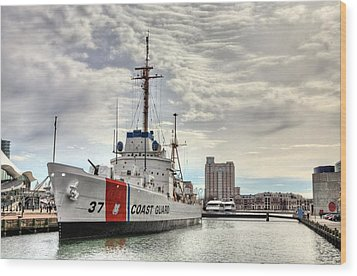 Uscg Cutter Taney Wood Print by JC Findley