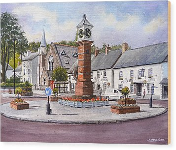 Usk In Bloom Wood Print by Andrew Read