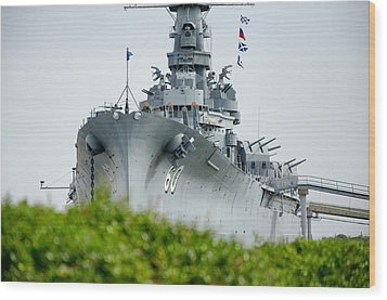 Wood Print featuring the photograph Uss Alabama 2 by Susan  McMenamin
