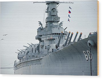 Wood Print featuring the photograph Uss Alabama 3 by Susan  McMenamin