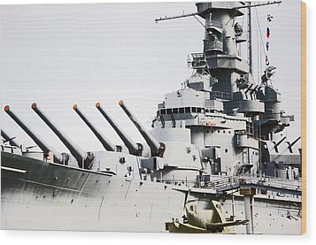Wood Print featuring the photograph Uss Alabama by Susan  McMenamin