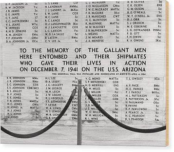U.s.s. Arizona Pearl Harbor Memorial Wood Print by Barbara West