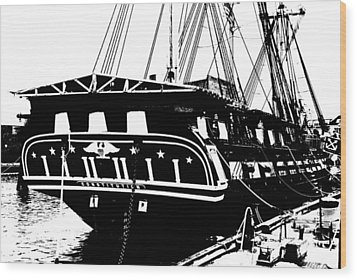 Uss Constitution Wood Print by Charlie and Norma Brock