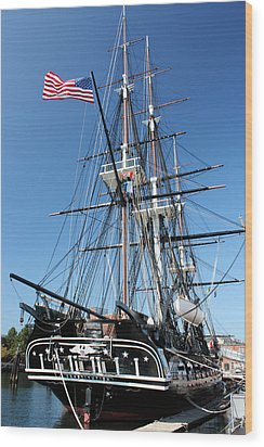 Uss Constitution Wood Print