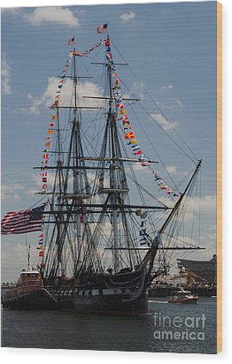 Wood Print featuring the photograph Uss Constitution by Mike Ste Marie