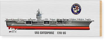 Uss Enterprise Cvn 65 1975- 1981 Wood Print by George Bieda