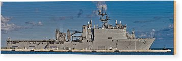 Uss Fort Mchenry Wood Print