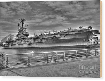 Uss Intrepid Wood Print by Anthony Sacco