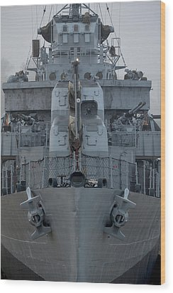 Uss Kidd Dd 661 Front View Wood Print by Maggy Marsh