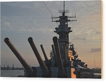 Uss Missouri Pearl Harbor Hi Wood Print