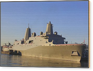 Uss New York - Lpd21 Wood Print by Dora Sofia Caputo Photographic Art and Design