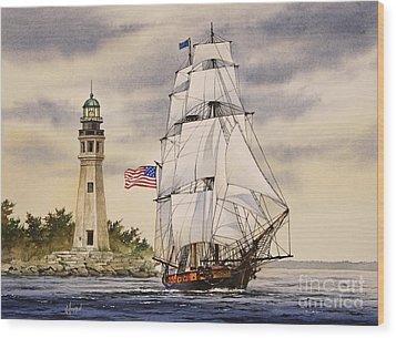 Uss Niagara Wood Print