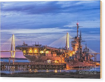 Uss Yorktown Museum Wood Print by Jerry Fornarotto