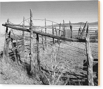Utah Corral Wood Print