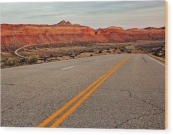 Utah Highway Wood Print by Benjamin Yeager