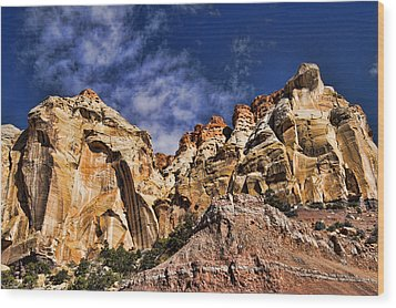 Utah Mountains Wood Print