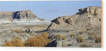 Utah Outback 42 Panoramic Wood Print by Mike McGlothlen