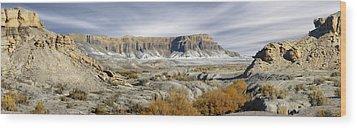 Utah Outback 43 Panoramic Wood Print by Mike McGlothlen