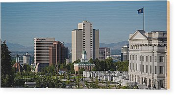 Utah State Capitol Building, Salt Lake Wood Print by Panoramic Images