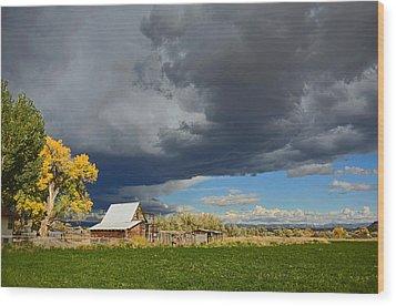 Utah Storm 2 Wood Print