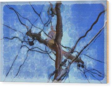 Utility Pole Wood Print by Ayse Deniz