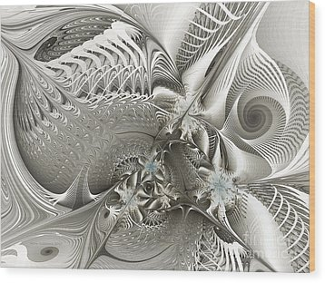 Utopia-fractal Art Wood Print