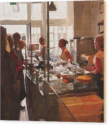 Wood Print featuring the painting Utrecht. Sector 3 Horeca Shop by Nop Briex