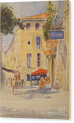 Uzes France Wood Print by Beatrice Cloake