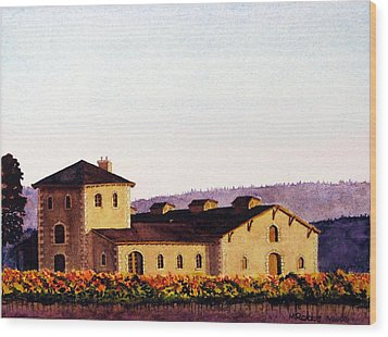 V. Sattui Winery Wood Print by Mike Robles
