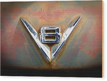 V8 Ford Wood Print by Bud Simpson