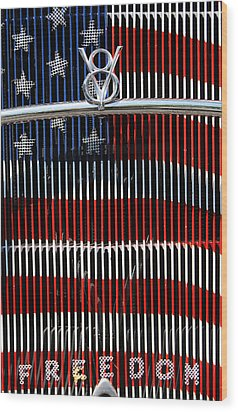 V8 Freedom Wood Print by Jani Freimann