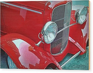 Wood Print featuring the photograph V8 by Victor Montgomery