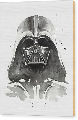 Darth Vader Watercolor Wood Print