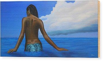 Vahine De Tahiti Wood Print by Wahine Art
