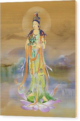 Vaidurya  Kuan Yin Wood Print by Lanjee Chee
