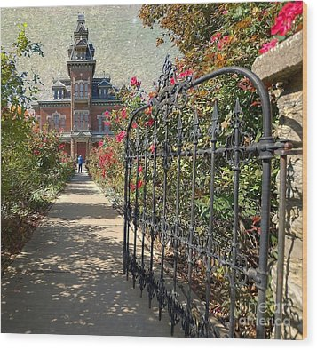 Vaile Landscape And Gate Wood Print