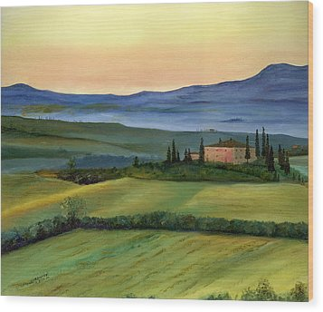 Val D Wood Print by Cecilia Brendel