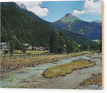Wood Print featuring the photograph Val Di Fassa by Zinvolle Art