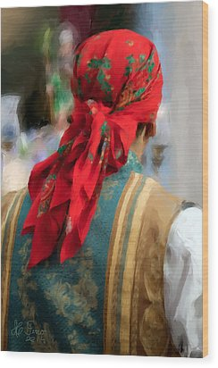 Wood Print featuring the photograph Valencian Man In Traditional Dress. Spain by Juan Carlos Ferro Duque
