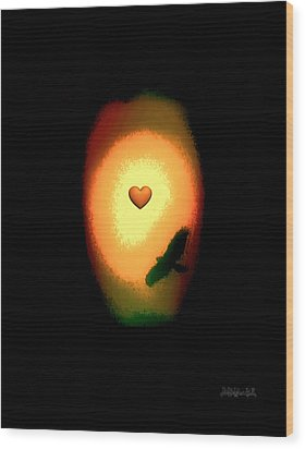 Valentine Heart 1 Wood Print by Brian D Meredith