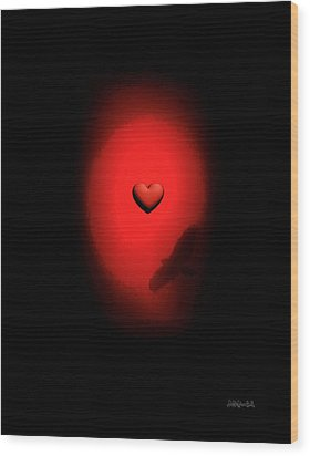 Valentine Heart 2 Wood Print by Brian D Meredith