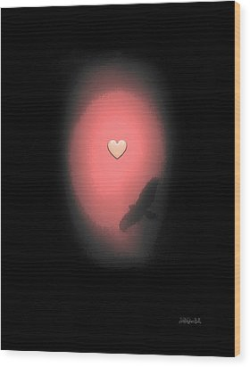 Valentine Heart 3 Wood Print by Brian D Meredith