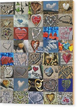 Valentine - Hearts And Memories   Wood Print by Daliana Pacuraru